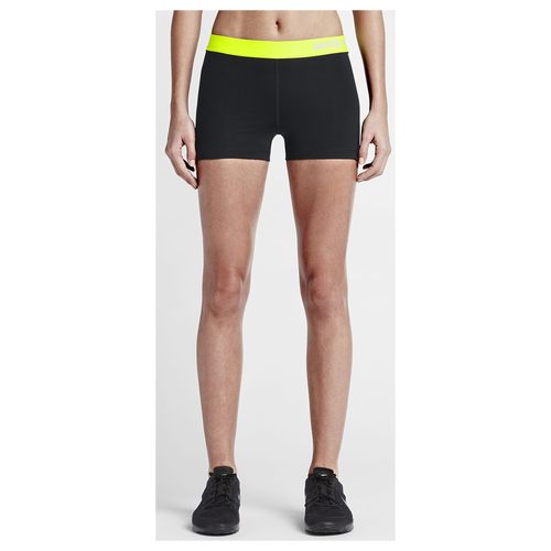 Nike Pro Cool 3u0026quot; Compression Shorts - Womenu0026#39;s - Training - Clothing - Black/Volt/White