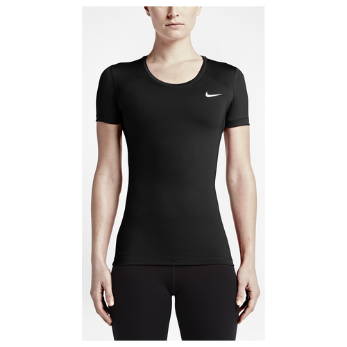 Nike Pro Cool Short Sleeve - Women's Training - Black/White 25745010