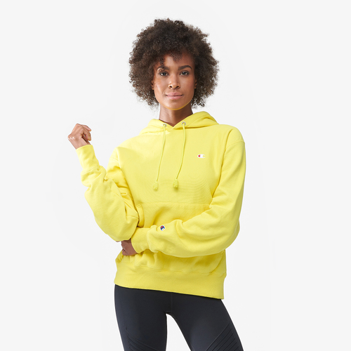 Champion Logo Pullover Hoodie - Women's Casual - Yellow 68061453