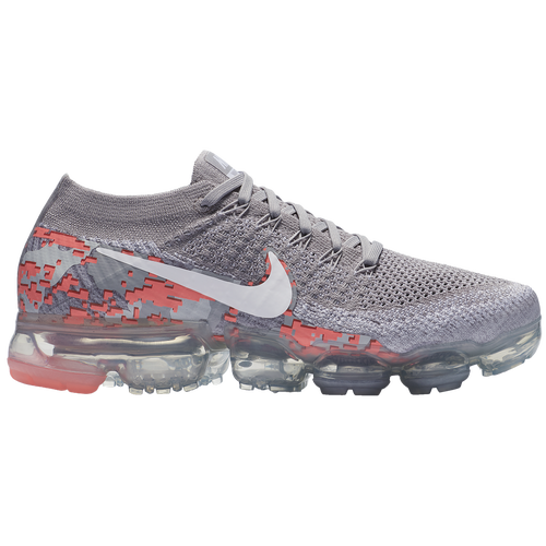 Nike Air VaporMax Flyknit - Women's - Running - Shoes - Atmosphere  Grey/White/White/Hot Punch