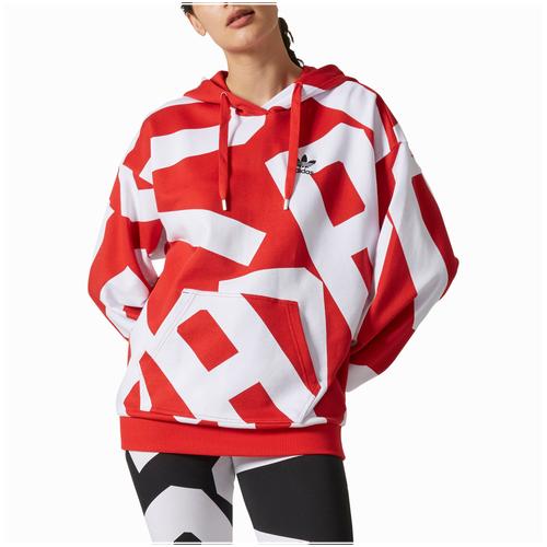adidas Originals Bold Age Pullover Hoodie - Women\u0027s - Red / White