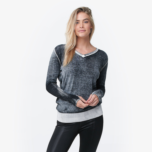 Blanc Noir Twist Sweater Womens